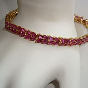 100 Genuine Rubies Sophisticated Bracelet