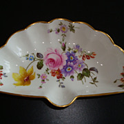 Royal Crown Derby ' DERBY POSIES' Fan Shaped Trinket Dish