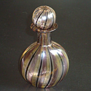 Vintage Delicate Hand Blown Swirl Perfume Bottle