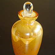 Gorgeous Designs China Perfume Bottle with Sticker ~ Amber / White