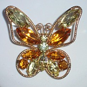 Juliana Rhinestone Butterfly Brooch � 1960�s