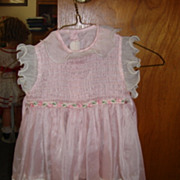 1950's Style Pink Nylon Dress for Playpal