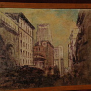 JOHN HENRY RAMM (1879-1948 ) noted Northern California artist oil painting of San Francisco do