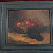 LUCIUS A. BRIGGS (1852-1931) Massachusetts artist vintage fruit still life painting