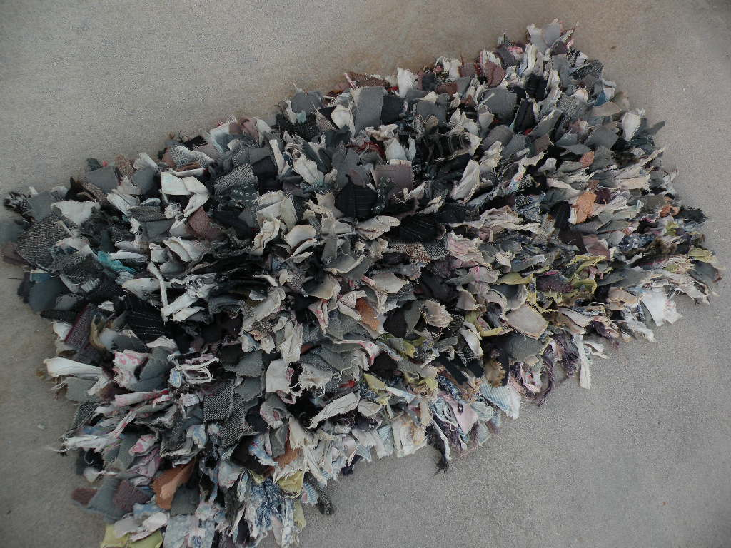 American Folk Art Hand Made Rag Rug Circa 1920 To 1940 From Jbfinearts