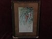 19th century California vintage art signed watercolor of pepper tree leaves