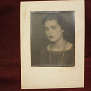MAN RAY (1890-1876) pencil signed vintage photograph of a young woman in Paris circa ...