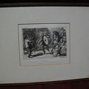 "JOHN SLOAN (1871-1951) pencil signed limited edition etching ""Man Monkey"" with impor"