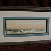 EPHRAIM FRANK LINCOLN (circa 1900) American signed 19th century coastal watercolor painting ..