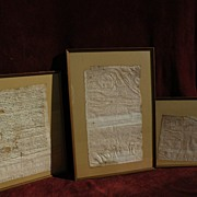 Three 14th and 15th century Spanish medieval commercial and notarial documents
