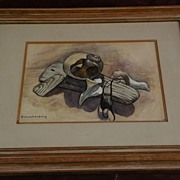 HENRY ERNEST SCHNAKENBERG (1892-1970) fine naturalistic watercolor drawing by well known Ameri