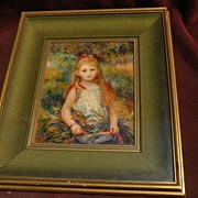 "PIERRE AUGUSTE RENOIR (1841-1919) framed reproduction print ""La Fillette a la Gerbe"""