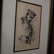 HERMANN STRUCK (1876-1944) pencil signed lithograph by well listed Jewish artist