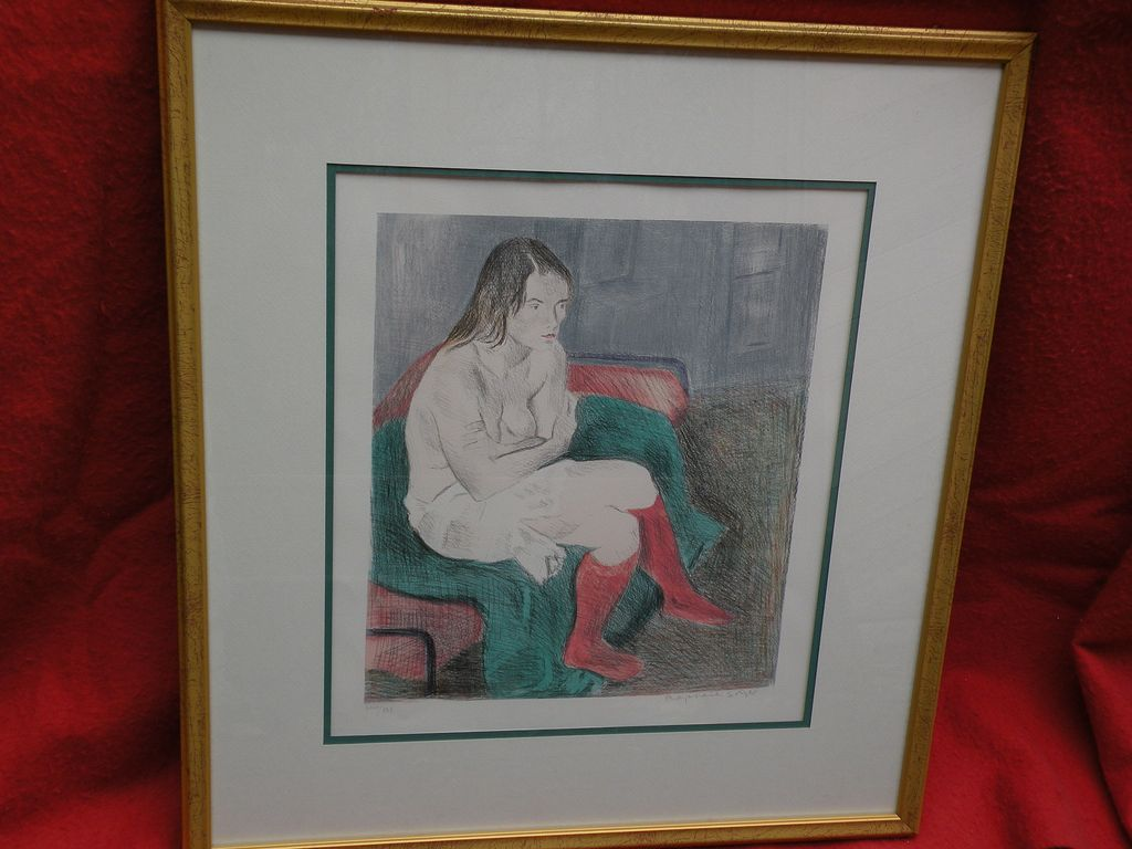 RAPHAEL SOYER (1899-1987) pencil signed color lithograph print by well known American artist