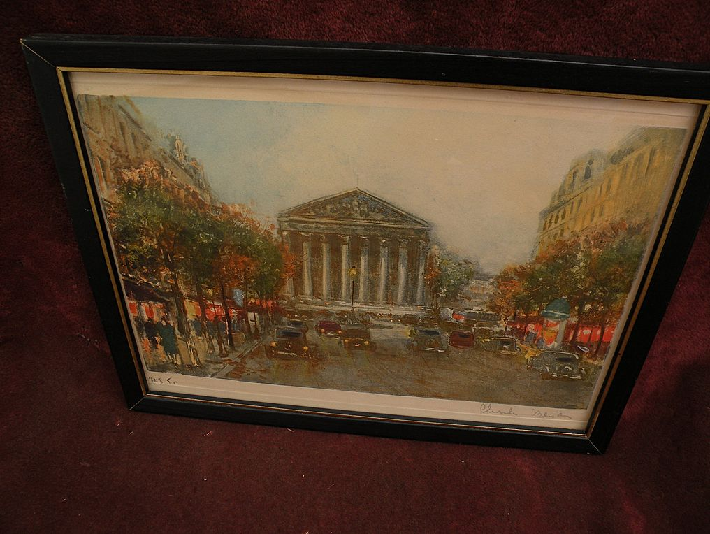 CHARLES BLONDIN (1913-) Paris impressionist street scene pencil signed limited edition color print