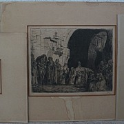 MARIUS BAUER (1867-1932) **three** pencil signed etchings of orientalist subjects by Dutch not