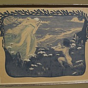 "Henri Jules Ferdinand Bellery-Desfontaines (1867-1910) original color lithograph ""L'Illus"