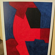 SERGE POLIAKOFF (1906-1969) original lithograph print by major Russian French modern artist& .