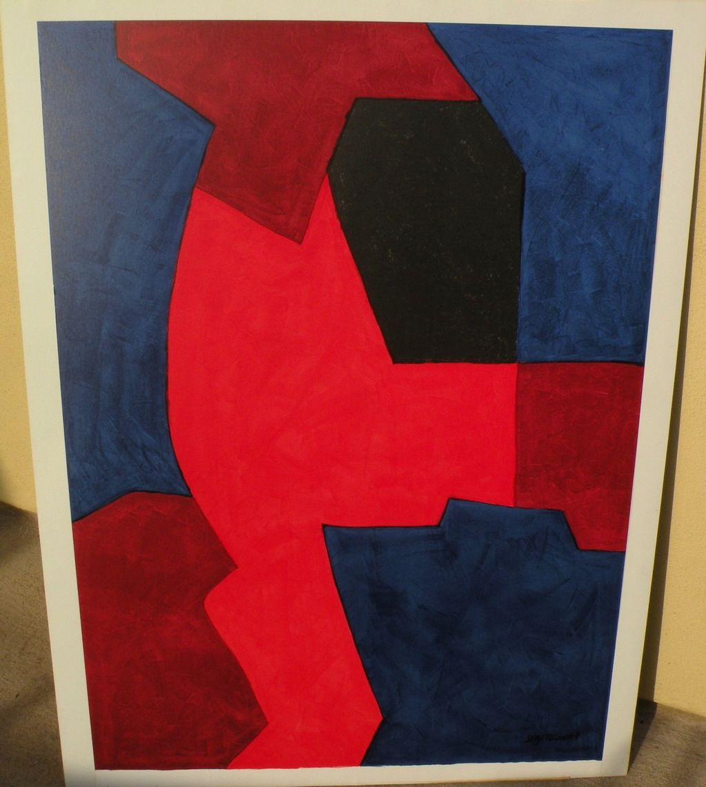 SERGE POLIAKOFF (1906-1969) original lithograph print by major Russian French modern artist&#8207;