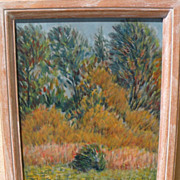 GENEVE RIXFORD SARGEANT (1868-1957) impressionist plein air landscape painting by noted Califo