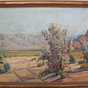 JAMES MERRIAM (1880-1951) California plein air art large desert oil painting