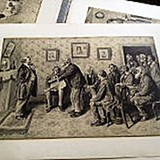 ARTHUR BURDETT FROST (1888-1966) folio of six prints by the important American illustrator ...
