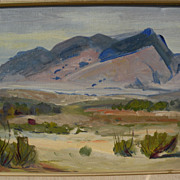GEORGE BARKER (1882-1965) California plein air art impressionist desert landscape painting