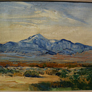 GEORGE BARKER (1882-1965) California plein air art impressionist western mountain landscape pa
