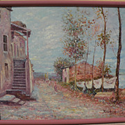 JOHN CLYMER (1932-) impressionist contemporary signed classic impressionist painting by listed