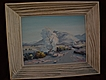 California plein air art impressionistic desert painting circa 1950's