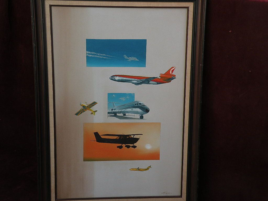 CRAIG KODERA (1956-) major aviation art original oil painting