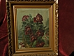 Roses still life floral oil painting circa 1900 signed Myrtle Crittenden very &quot;shabby&quot;