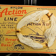 "Vintage ""Action"" Nylon Line on Original Card"