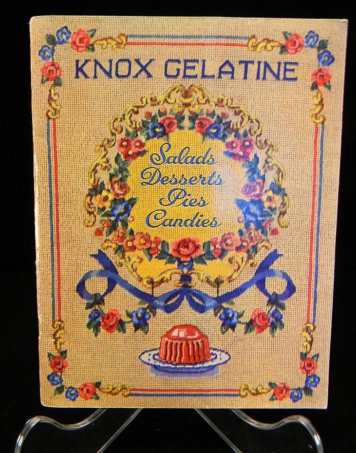 Vintage 1943 Knox Gelatine Salads Desserts Pies & Candies Cook Book