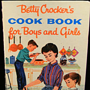Vintage 1957 Betty Crocker's Cook Book For Boys and Girls
