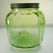 Hocking Green 64 oz. Canister Cookie Jar