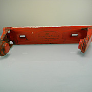 Vintage 1933 Red Metal ScotTowels Towel Holder