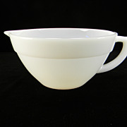 Fire King Anchorwhite 1&quot; Band Colonial Batter Bowl