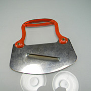 Vintage Food Chopper/Slicer with Red Metal Handle