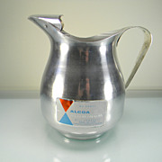 Vintage Alcoa Aluminum Pitcher with Original Label