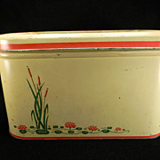 Vintage Cattails Bread Box