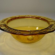 Amber Tiara Child's Nursery Rhyme Bowl with Original Label & Signature