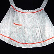 Vintage Red, Green, & White Apron