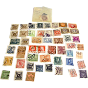 Antique early 1900s era lot of new and used cancelled stamps from Poland