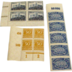 Antique German ww1 era 1920s stamps mint condition never hinged blocks lot number 6 deutsches reich
