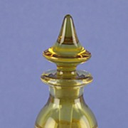 SALE Circa 1915, American, Amber Crystal with Gilt Trim, Perfume / Scent Bottle by Hawkes
