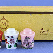 SALE Vintage, French, Bakelite, Three Piece Set of Concreta (Solid) Perfumes, Muguet, Pois de