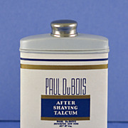 SALE Circa 1920's, American, After Shaving Talcum Powder by Paul Du Bois in Original Tin