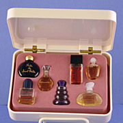 SALE Vintage, Presentation / Gift Set Includes Seven, (7) Miniature, Commercial Perfume Bottle