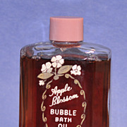 "SALE Circa 1930's, American, ""Apple Blossom"" Bubble Bath Oil / Perfume by Andr� Chen"
